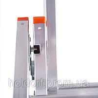 Лестница трехсекционная алюминиевая Laddermaster Sirius A3A10. 3x10 ступенек, фото 5
