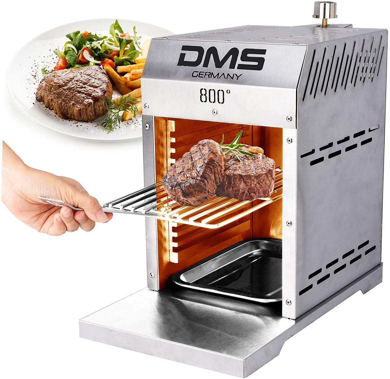 Гриль газовый DMS Beef Maker из нержавеющей стали, температура нагрева до 860 ° C