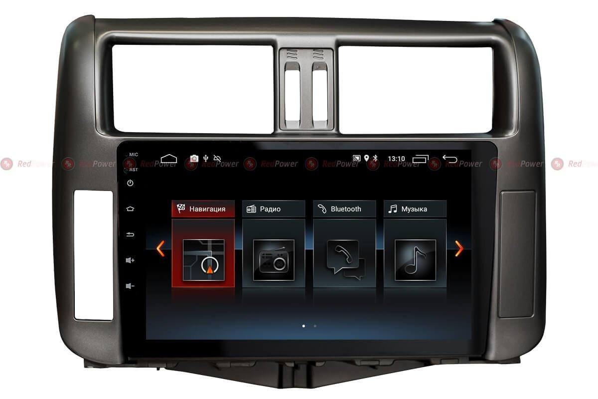 Штатная автомагнитола для Toyota Prado 150 (2009-2013 гг) на Android 8 от RedPower 30065 IPS