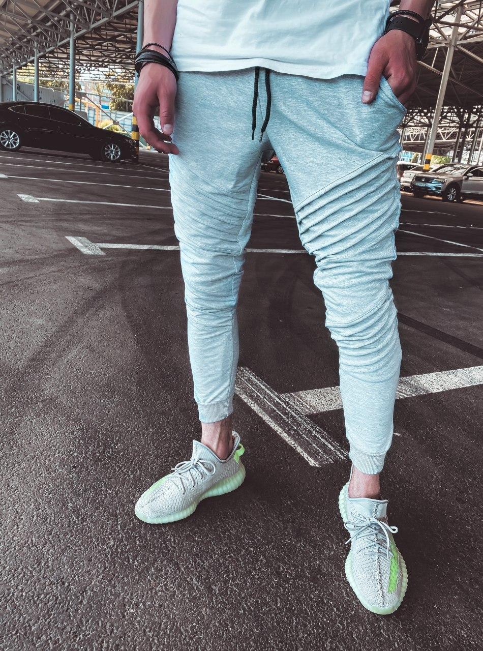 Спортивные брюки  - Мужские спортивные штаны серые