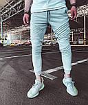 Спортивные брюки  - Мужские спортивные штаны серые, фото 2