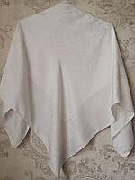 Платок шелковой с ажурным рисунком ( 100 х 100 см.)