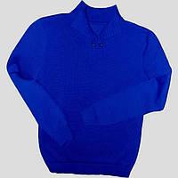 Мужской вязаный свитер из мерсеризованного хлопка с воротником-поло