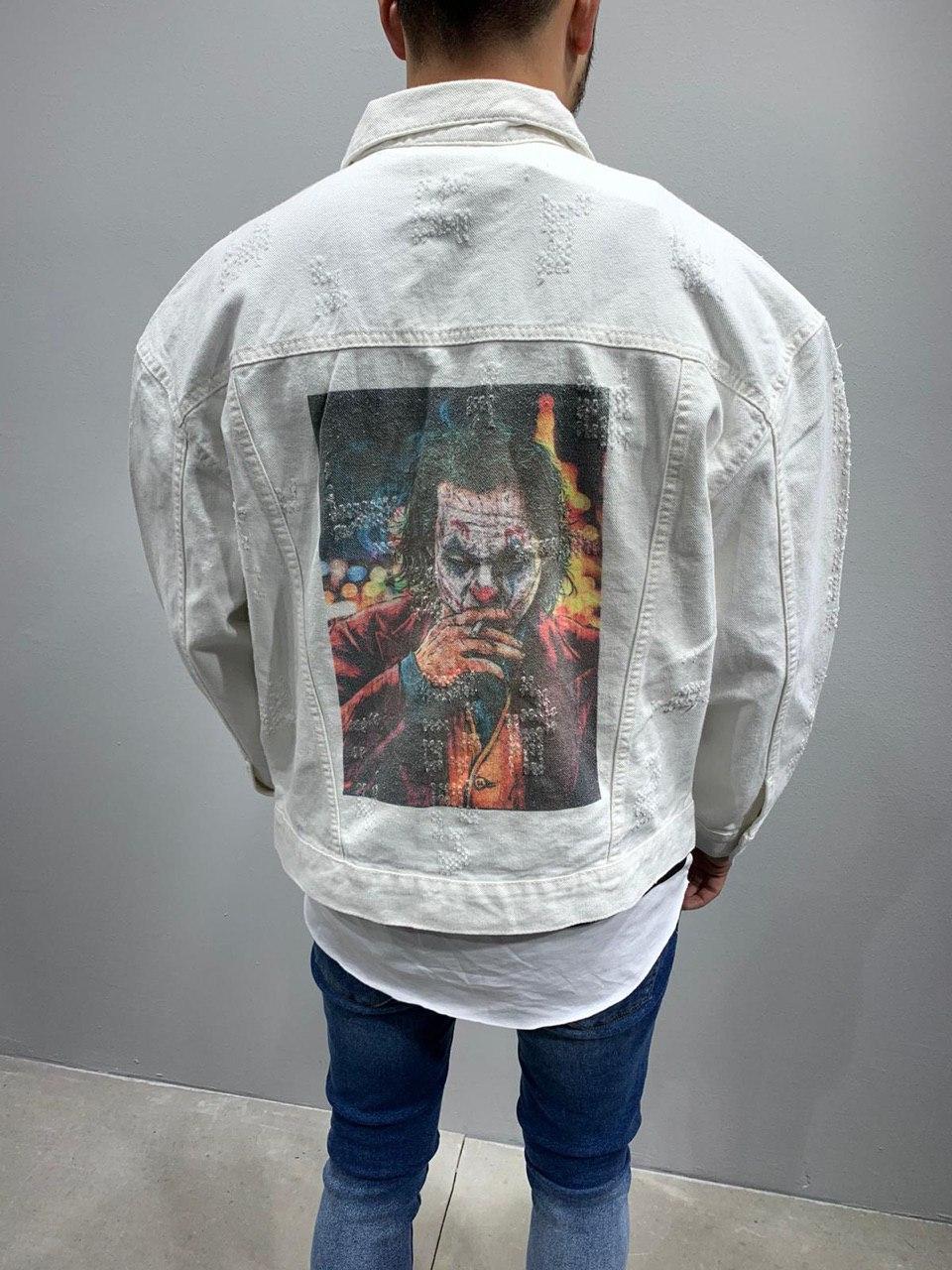 😜 Джинсовка - Мужская куртка джинсовка белая