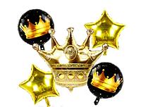 "Набор шариков ""Корона""золото (уп.5шт.)"
