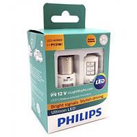 Лампы светодиодные Philips PY21W LED 12V + Smart Canbus 11498ULAX2 White 2 шт