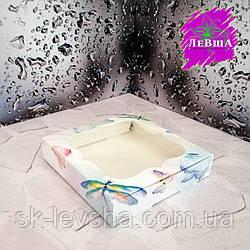 Коробка 150*150*30 для пряников Печать Акварель с окном