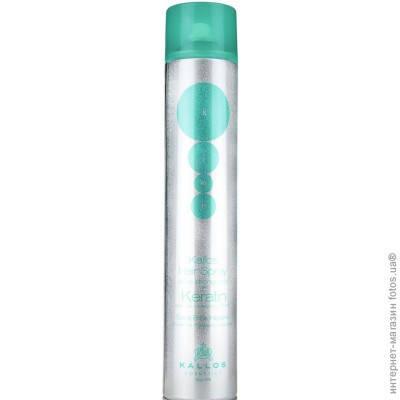 Kallos спрей Extra strong Hair Spray with keratin 750 ml