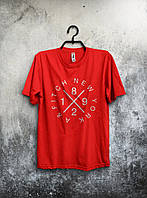 Футболка красная - New York/Нью Йорк, Удобная футболка, Спортивная футболка, Унисекс, Футболки для полных!!