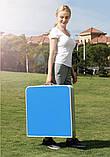 Стол для пикника усиленный с 4 стульями Folding Table, стол туристический складной, 120х60х55 см (синий), фото 6