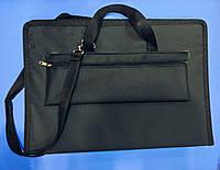 """Папка-сумка для планшетов """"Классика""""/ткань/ картон А3 ЧЕРНАЯ"""