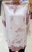 Блузка-туника женская, с кружевом