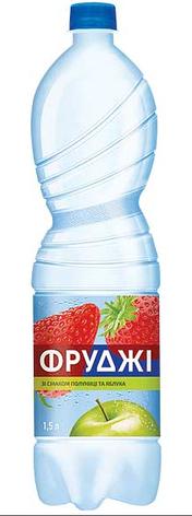 Вода Фруджi Карпатська -Д. зі  смаком полуниці та яблука 1,5л , фото 2