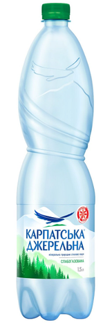 Мін вода Карпатська Джерельна 1,5л слг, фото 2