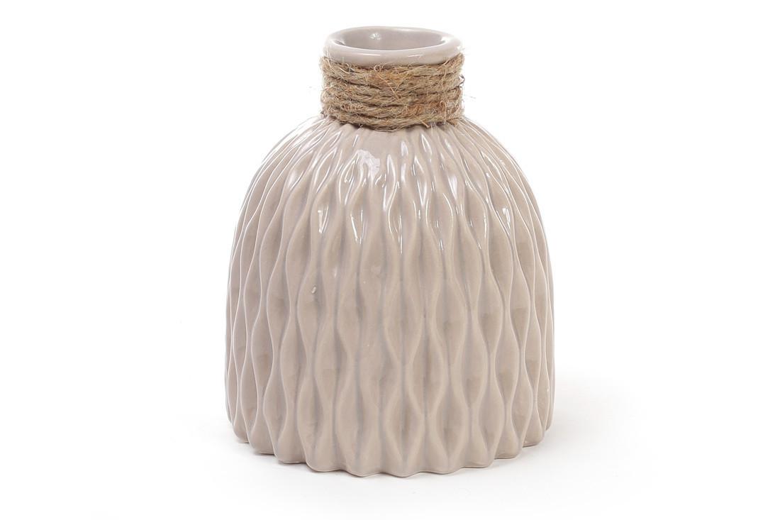 Ваза керамическая 14.5 см, песочная SKL11-250007