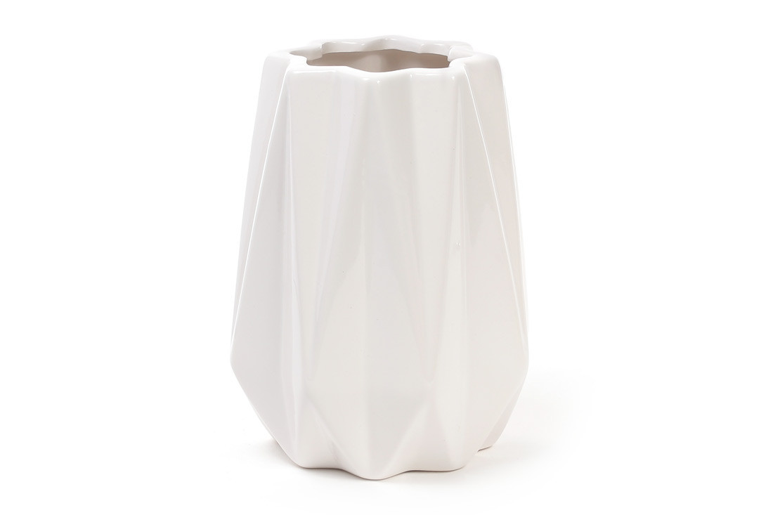 Ваза керамическая 16 см, белая SKL11-249983