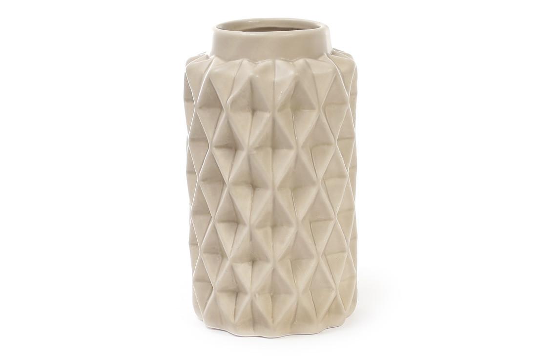 Ваза керамическая 16 см, песочная матовая SKL11-250004