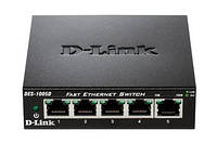 Коммутатор D-Link DES-1005D 5port 10/100BaseTX, Metal Case, DES-1005D