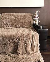 Плюшевый плед-травка, 220х240 см на евро кровать