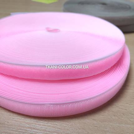 Лента липучка велкро розовая, 2см, (папа+ мама), фото 2
