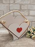 Кашпо біле у формі серця 19х25 см 75 грн, фото 4