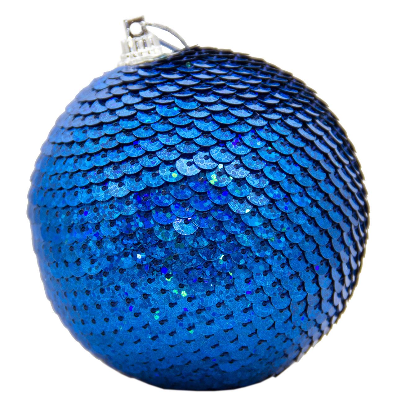 Елочное украшение в форме шара, синий (661497-15)