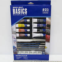 "Набор ""Basics"": краски акварель 12цв*12мл+"
