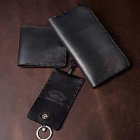 Мужской кошелек + Мужское портмоне + Ключница (Комплект Minimal Pro), фото 1