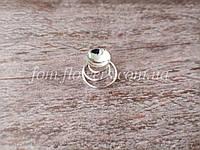 Тропиканка (Пружинка с основой для украшения) d=0,8 см, серебро., фото 1
