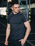 Мужской летний комплект Asos (футболка и шорты), серый летний комплект с лампасами, фото 3