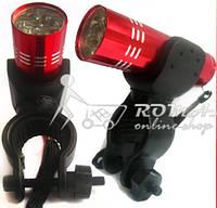 9 LED Ліхтар велосипедний+ кріплення, фото 1