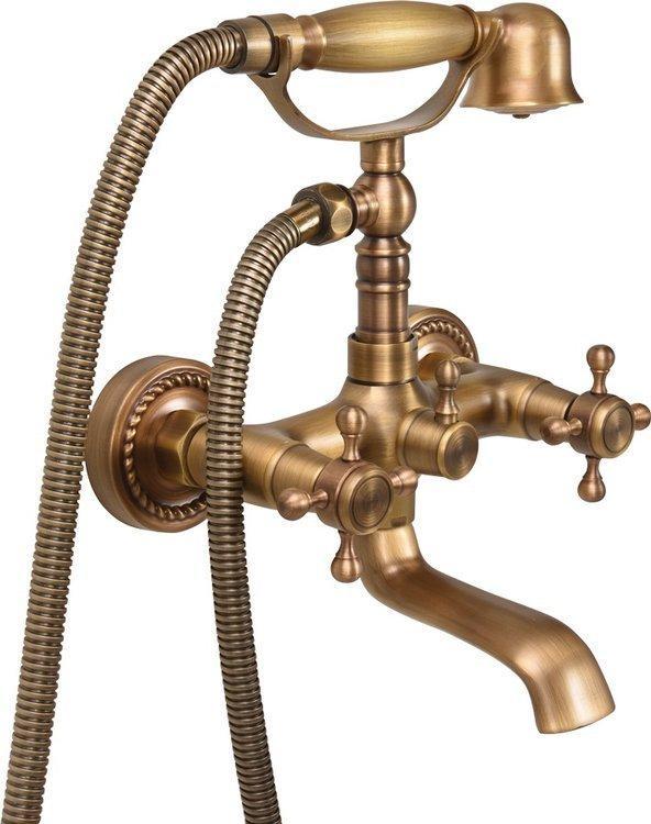 Смеситель для ванны двухвентильный RETRO BRONZE 1 Fala 75828