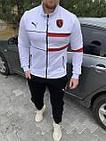 Мужской спортивный костюм Puma Ferrari красный, белый, фото 3