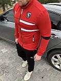 Мужской спортивный костюм Puma Ferrari красный, белый, фото 4