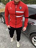 Мужской спортивный костюм Puma Ferrari красный, белый, фото 5