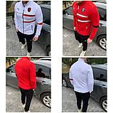 Мужской спортивный костюм Puma Ferrari красный, белый, фото 2