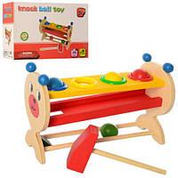 Детская деревянная музыкальная игрушка Стучалка MD 2338
