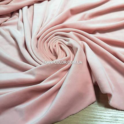 Ткань плюш велюр персиковый, фото 2