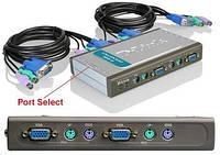 KVM-переключатель D-Link DKVM-4K 4port w/2 Cables, DKVM-4K