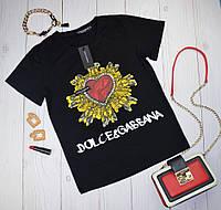 Модная женская футболка в стиле Dolce & Gabbana