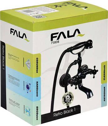 Смеситель для ванны с шаровым регулятором RETRO BLACK 1 Fala 75808, фото 2