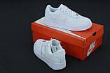 Кроссовки мужские Nike Air Force 1 в стиле найк форсы белые (Реплика ААА+), фото 5
