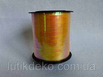 Лента  полипропиленовая для подарков жёлтый перламутр, 250 м
