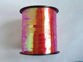 Лента  полипропиленовая для подарков темно-розовый перламутр, 250м