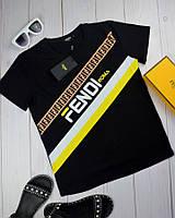 Женская футболка в стиле Fendi Фенди КАЧЕСТВО СУПЕР, фото 1