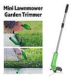 Ручная беспроводная газонокосилка Green Garden Zip Trim Триммер для травы, фото 3