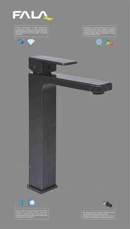 Смеситель для  раковины с шаровым регулятором RETRO BLACK 3 Fala 75815, фото 2