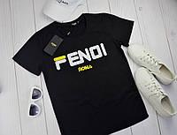 Женская футболка в стиле Fendi (Фенди)