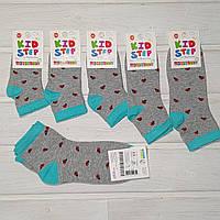 Носочки для девочки Master Step 819 короткие серые божьи коровки Размер 12 14 16 18 20 22