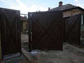 """Ворота жатые """"Мальта"""" однотонные. 3"""